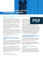 Reform of the Law on Renewable Energy En