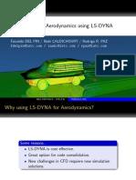 Aerodynamics using LSDYNA