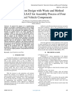 Lean Production Design with Waste and Method Analysis of VALSAT for Assembly Process of Four Wheel Vehicle Components