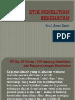 Prof. Amri Amir (Etik Penelitian Kesehatan Fk Usu)