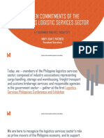 Ten Commitments of the Philippines Logistics Services Sector