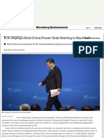 Is Xi Jinping's Bold China Power Grab Starting to Backfire? - Bloomberg