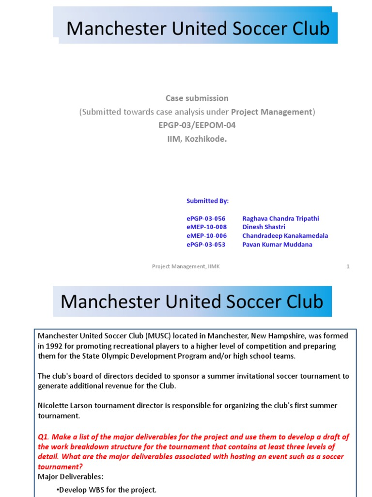 manchester united soccer club case study nicolette larson