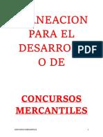 3.- Planeacion Para El Desarrollo de Concurso Mercantiles