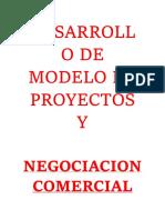 4.- Desarrollo de Modelo de Proyectos y Negociacion Comercial