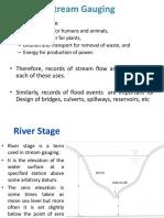 Stream Gauging Hydrology