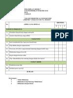 Checklist Responsi Alveolektomi
