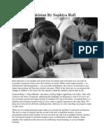 Educating Pakistan by Sophiya Rafi