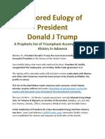 Honored Eulogy of President J Donald Trump by mrworldemergency