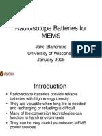 Baterias Nucleares -  radiação beta