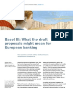 Implications of Basel3 Financial Reform
