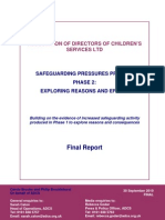 Association of Directors of Children's Services, LTD, Safeguarding Pressures Project Phase 2