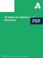 Tutor Resource - Starter and Plenary Ideas
