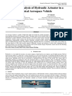 Design and Analysis of Hydraulic Actuator in a Typical Aerospace vehicle | J4RV4I2003