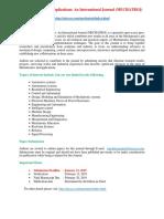 Mechatronics and Applications an International Journal (MECHATROJ)