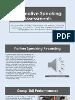 summative speaking assessments