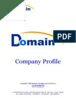 Domain Profile