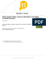 World Against Globe. Toward a Normative Conception of World Literatur. Pheng Cheah 2014