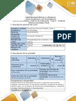 Guía de Actividades y Rúbrica de Evaluación - Fase 6 - Realizar El Informe Psicológico Final