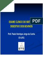 Semiologia Digestivo Bovino 2010