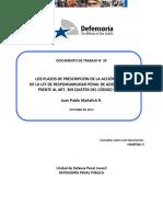 Dcto. de Trabajo 33-2013 Prescripción de La Acción Penal de La Lrpa Frente Al Art. 369 Quáter Cp