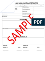 Borang RFI - Sample for Request For Information