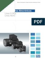 WEG Alternadores Sincronicos Linea g Plus 50031315 Catalogo Espanol