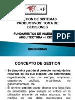 GESTION DE SISTEMAS PRODUCTIVOS
