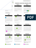 San Sebastian Calendario Laboral 2018