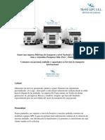 Somos una empresa Boliviana de transporte a nivel Nacional e Internacional con rutas a Argentina.docx