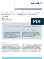Application Note 306 - Scale-Up of Escherichia Coli Fermentation From Small Scale to Pilot Scale Using Eppendorf Fermentation Systems