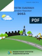 A. Statistik Daerah Kecamatan Kapontori 2015