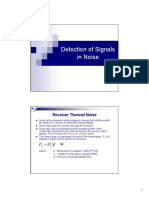 07Lec - Detection of Signals in Noise