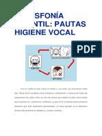 Pautas Higiene Vocal