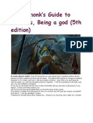 Treantmonk's Guide to Wizards 5e pdf | Dungeons & Dragons