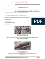 Chloride attack and sulfate attack