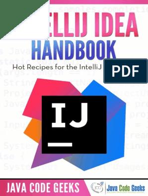 IntelliJ IDEA Handbook pdf | Areas Of Computer Science