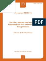 Derrida y algunas implicaciones ético políticas de la deconstrucción de la presencia