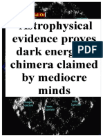 12.11.2018 Astrophysical Evidence Proves Dark Energy is Chimera Claimed by Mediocre Minds