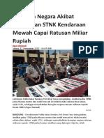 Kerugian Negara Akibat Pemalsuan STNK Kendaraan Mewah Capai Ratusan Miliar Rupiah.doc