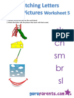 Matching Letters With Pictures Worksheet 5
