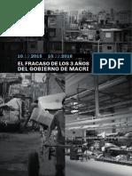 El informe que destroza la gestión de Mauricio Macri