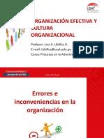 6 Organización efectiva