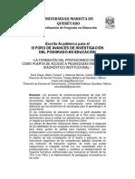 """la formación del profesorado en TICs como puerta de acceso a pedagogías innovadoras. diagnóstico institucional""""  (Documento)"""