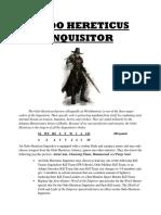 Ordo Hereticus Inquisitor Kill Team Leader Rules