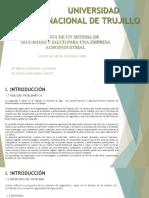 Diapositivas de La Propuesta de Un Sistema de Seguridad y Salud Para Una Empresa Agroindustrial