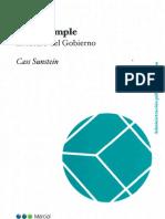 (Más) Simple - El Futuro Del Gobierno - Cass Susntein