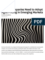 Week 2 - Global Companies Need to Adopt Agile Pricing in Emerging Markets