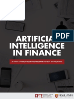 Brochure AI in Finance