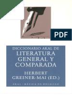 Diccionario Akal De Literatura general y comparada - Greiner Mai Herbert.pdf